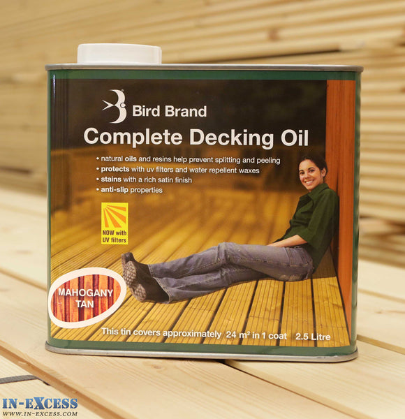 Bird Brand Complete Decking Oil 2.5L - Mahogany Tan
