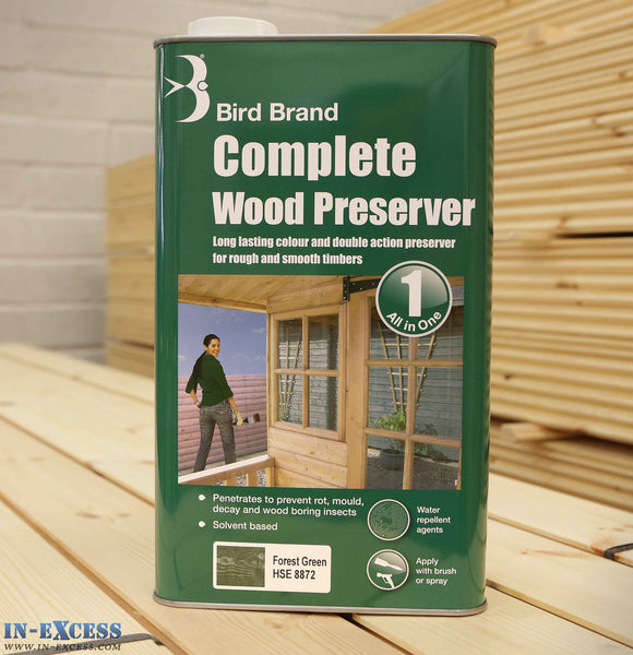 Bird Brand Complete Wood Preserver All in One 5L - Forest Green