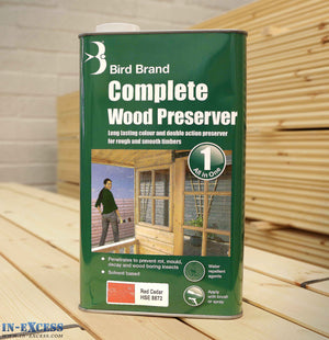 Bird Brand Complete Wood Preserver All in One 5L - Red Cedar