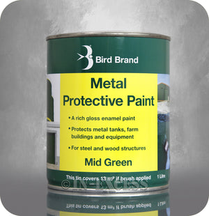 Bird Brand Gloss Enamel Metal Protective Paint 1 Litre - Mid Green