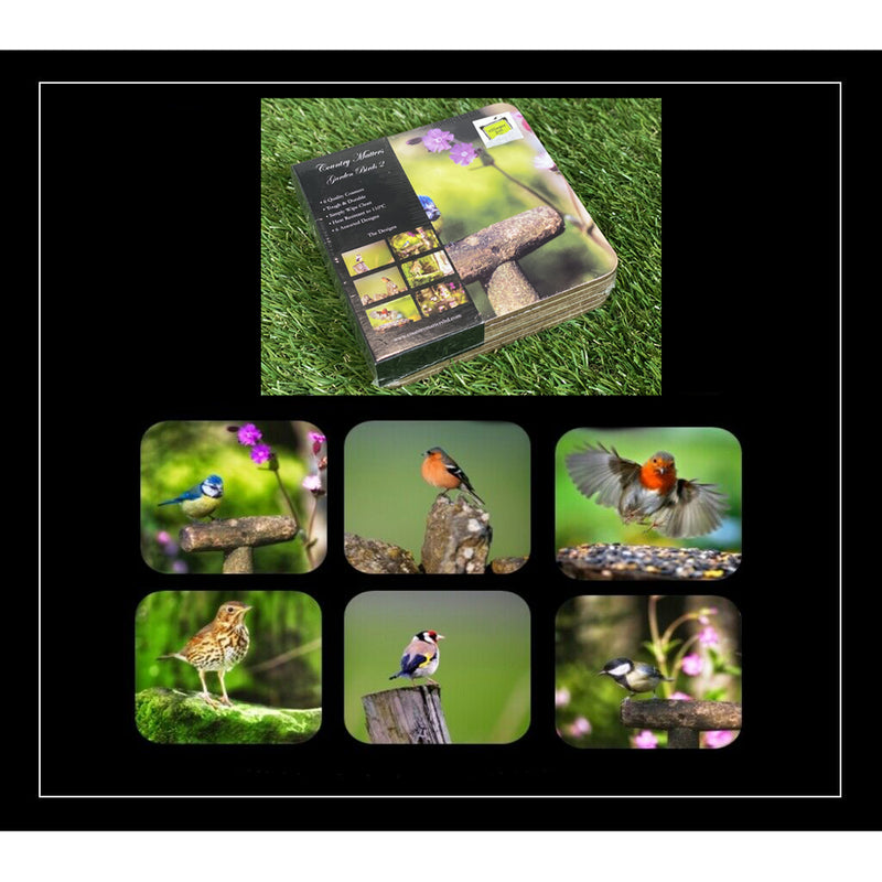 Country Matters Coasters - Garden Birds - pack of 6