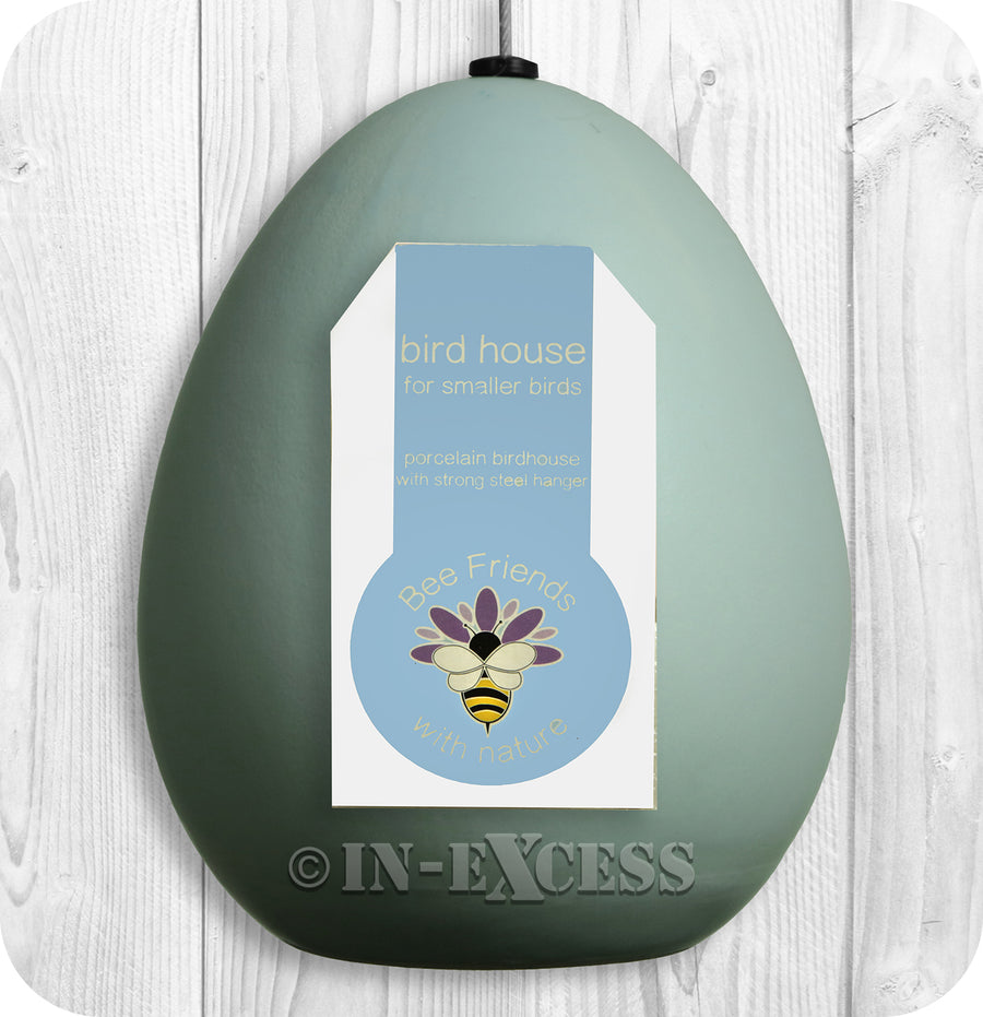 Photo of Porcelain Blue Bird House Front