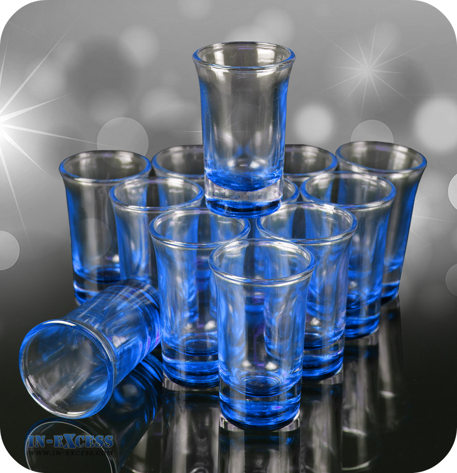 Blue Tinted Shot Glass