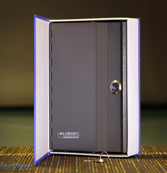 Bluekey Security Steel Book Safe