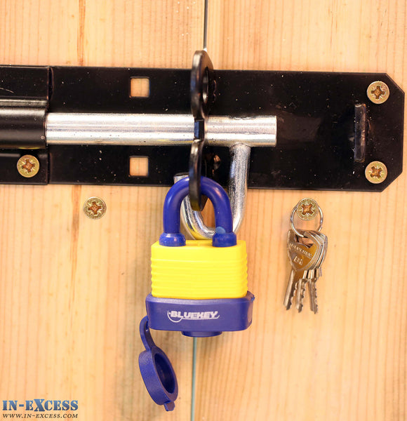 Bluekey Security Heavy Duty Solid Steel Shackle Weatherproof Padlock 30mm TS-W30