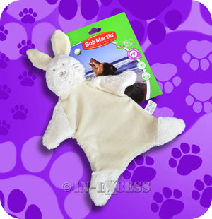 Bob Martin Interactive Play Plush Rabbit Squeaker Dog Toy