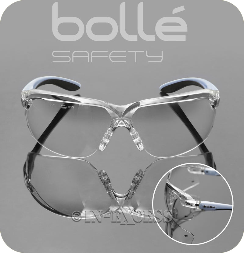 Bolle Safety AXCONT Axis Contrast High Protection Safety Glasses - Clear Lenses