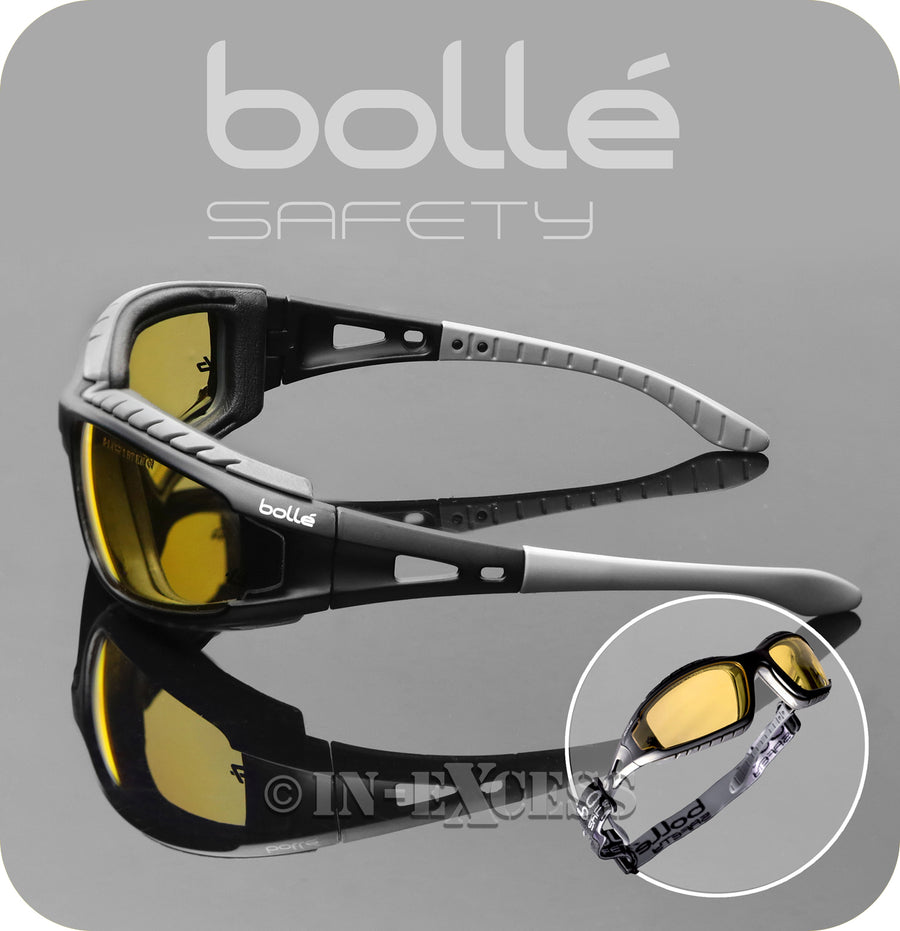 Bolle Safety TRACPSJ Tracker 2 High Protection Safety Glasses - Yellow Lenses