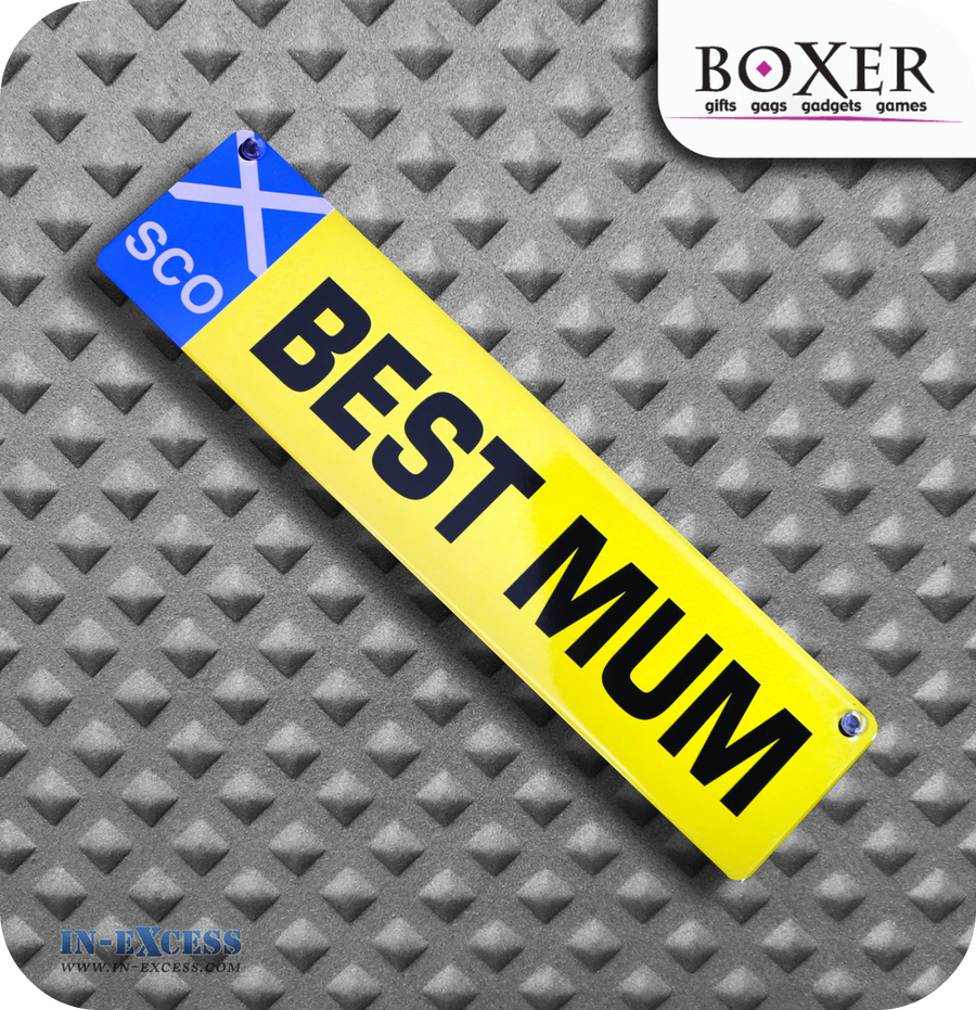 Boxer Gifts Best Mum Novelty Car Window Sign - Scotland