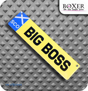 Boxer Gifts Big Boss Novelty Car Window Sign - Scotland