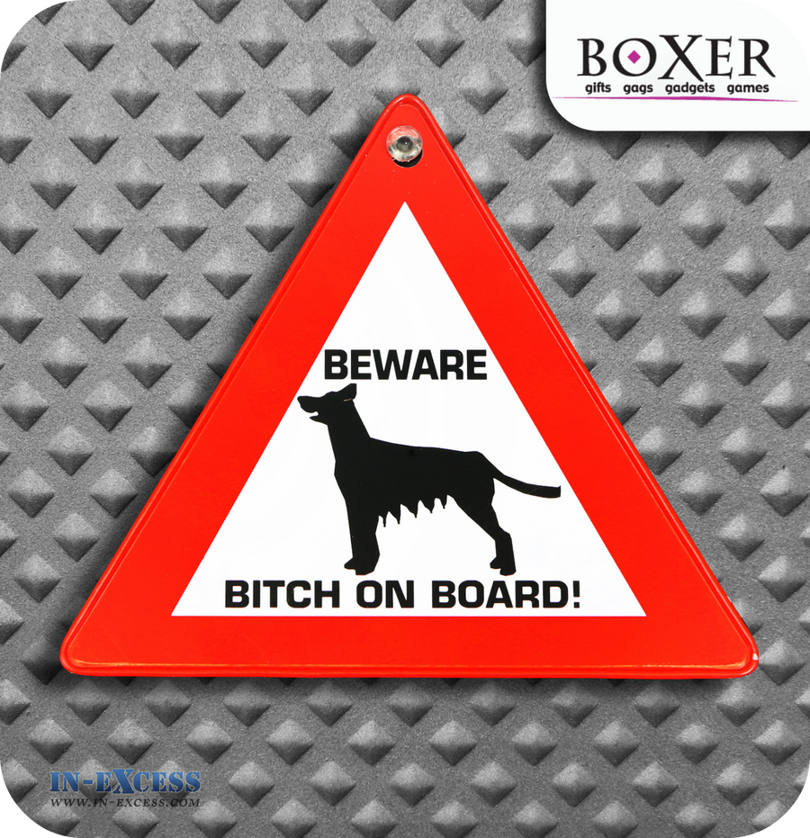 Boxer Gifts #$%&! On Board Novelty Car Window Sign