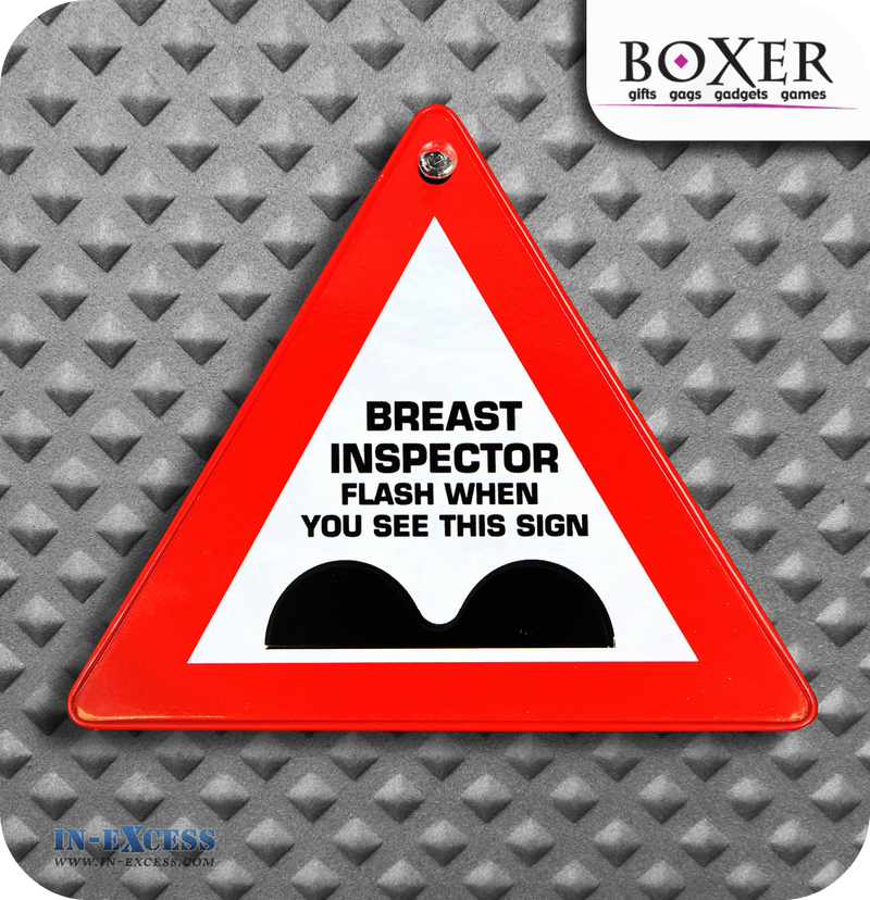 Boxer Gifts Breast Inspector Novelty Car Window Sign