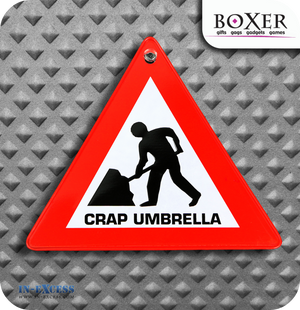 Boxer Gifts Crap Umbrella Novelty Car Window Sign