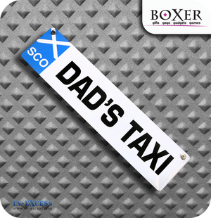Boxer Gifts Dad's Taxi Novelty Car Window Sign - Scotland