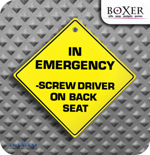 Boxer Gifts In An Emergency Novelty Car Window Sign