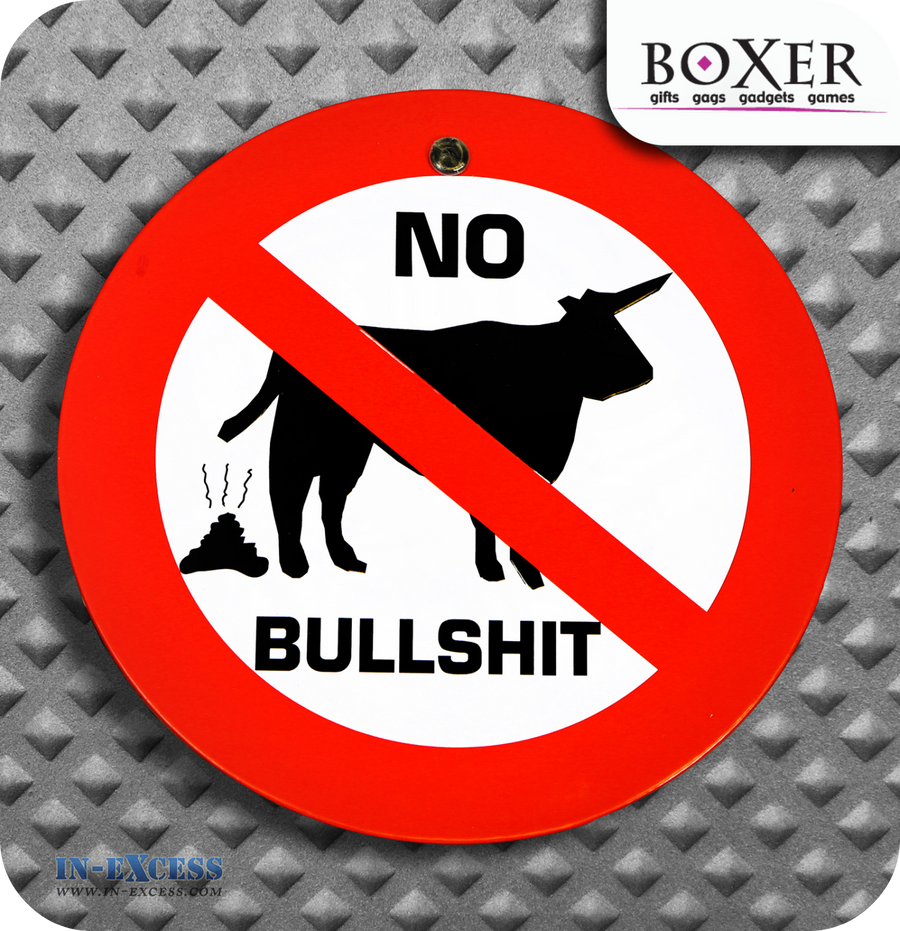 Boxer Gifts No Bull#$%& Novelty Car Window Sign