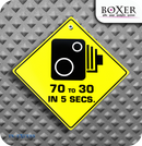 Boxer Gifts Speed Camera Novelty Car Window Sign