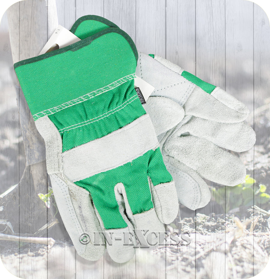 Briers Hard Wearing Gardening Suede Reinforced Rigger Work Gloves - Large