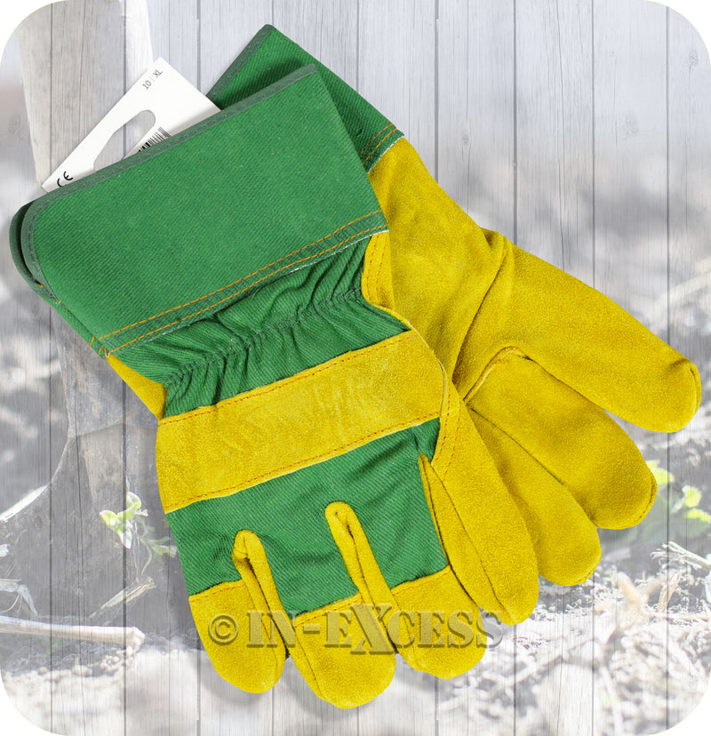 Briers Hard Wearing Loose Fitting Gardening Suede Rigger Work Gloves - Extra Large