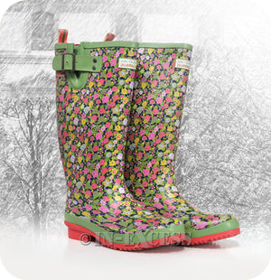 Photo of Briers Julie Dodsworth Adjustable Neoprene Lined Wellington Walking Boots