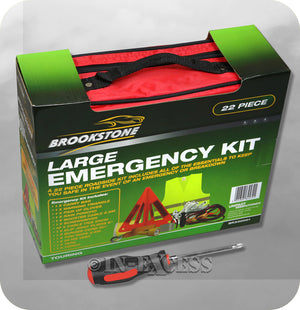Brookstone Breakdown Car Emergency Large Kit - Set of 22 Pieces