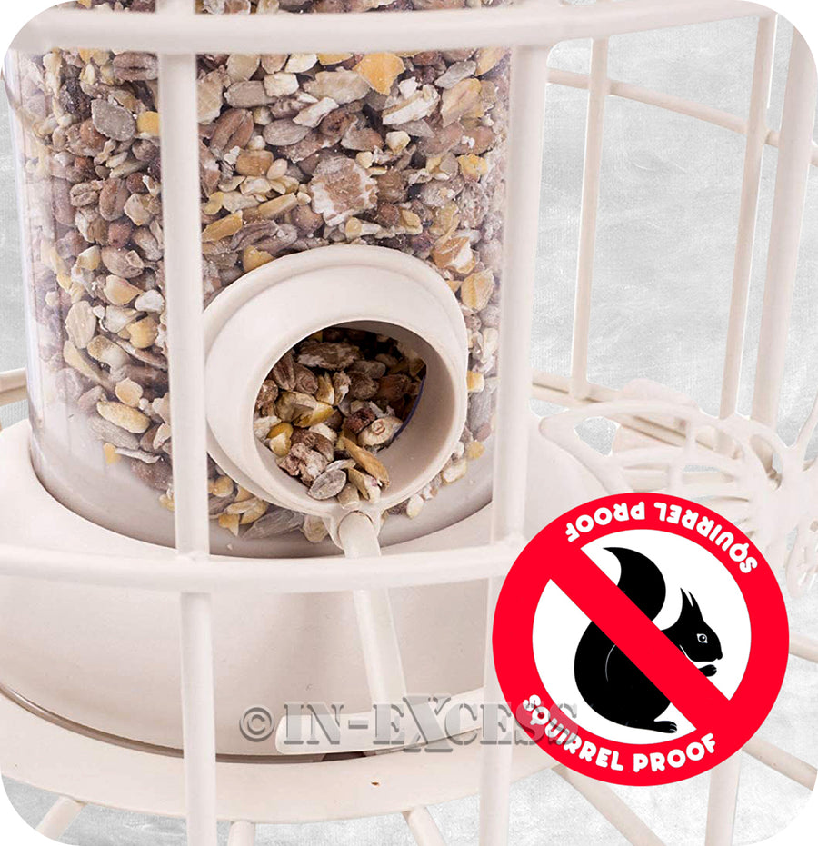 Photo of Squirrel Proof Decorative Wild Bird Seed Feeder