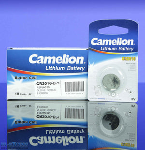 Camelion Lithium CR2016 Button Cell Batteries, Battery, 3V, Watch, Remote - Pack of 10