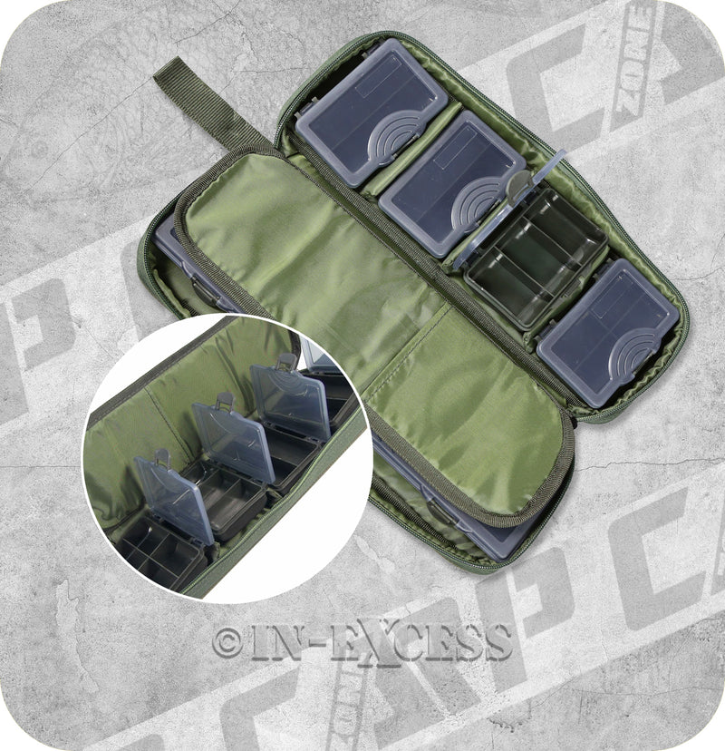 CarpZone Fishing Rig Accessory Pouch With Storage Boxes