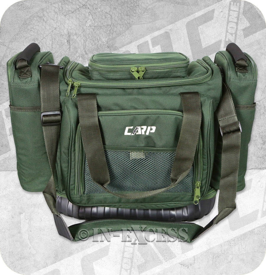 CarpZone Fishing Adjustable Carp Fishing Carpers Rig Bag With Integrated Rig Wallet and Accessory Pouches