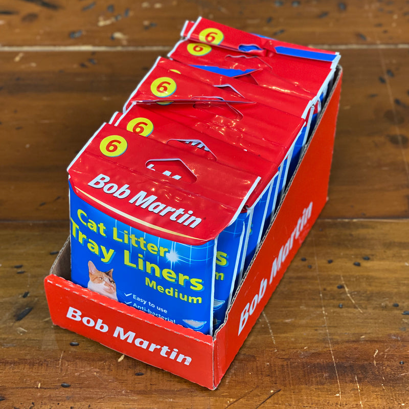 Bob Martin Cat Litter Tray Liners - Bulk Buy  - 78 in box -Medium