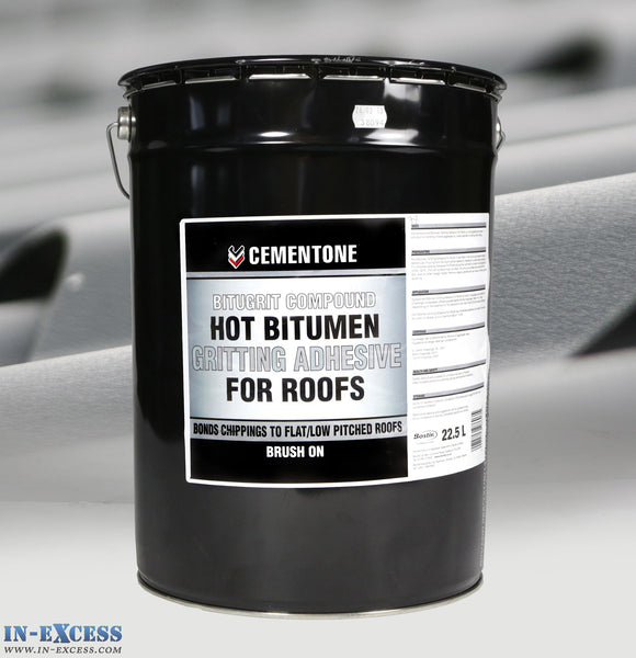 Cementone Bitugrit Compound Hot Bitumen Gritting Adhesive For Roofs 22.5L
