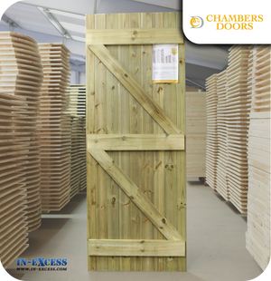 Chambers Doors Redwood Tanalised Ledge & Braced Door - 1981mm x 765mm