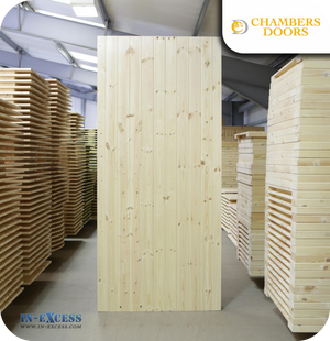 Chambers Doors Redwood Ledge & Braced Door - 1981mm x 915mm