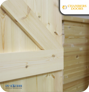 Chambers Doors Redwood Ledge & Braced Door - 1981 mm x 765mm