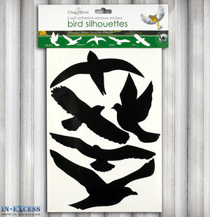 ChapelWood 5 Self Adhesive Window Stickers- Bird Silhouettes