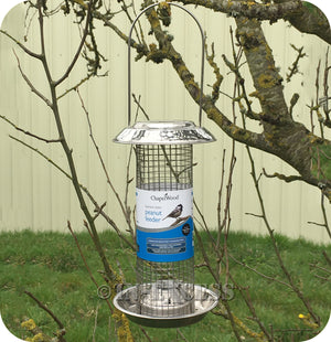 ChapelWood Wildlife Stainless Steel Peanut Bird Feeder - 400g