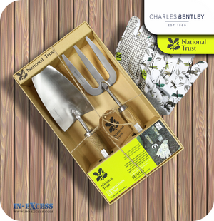 Charles Bentley National Trust Hand Fork, Hand Trowel & Glove Gift Set