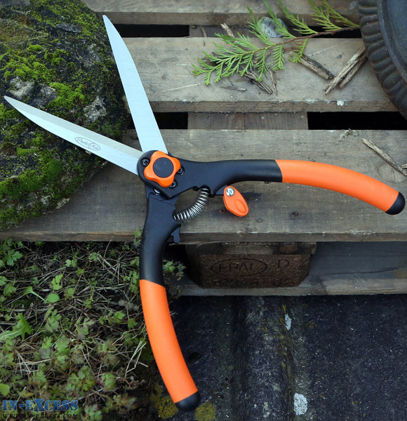 "Charles Rose 17"" Mini Shrub and Hedge Shear Soft Grip 6"" Carbon Steel Blade"