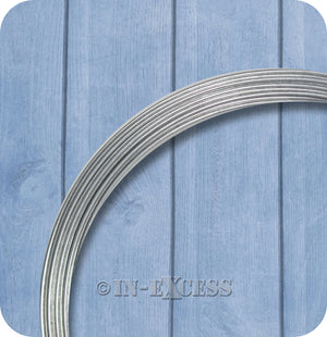Charles Rose Galvanised Garden Plant Running Line Wire 1.5mm - 100 Metres