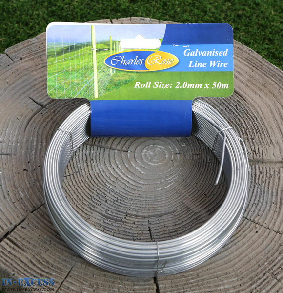 Charles Rose Galvanised Line Wire 2.0mm x 50 Metres