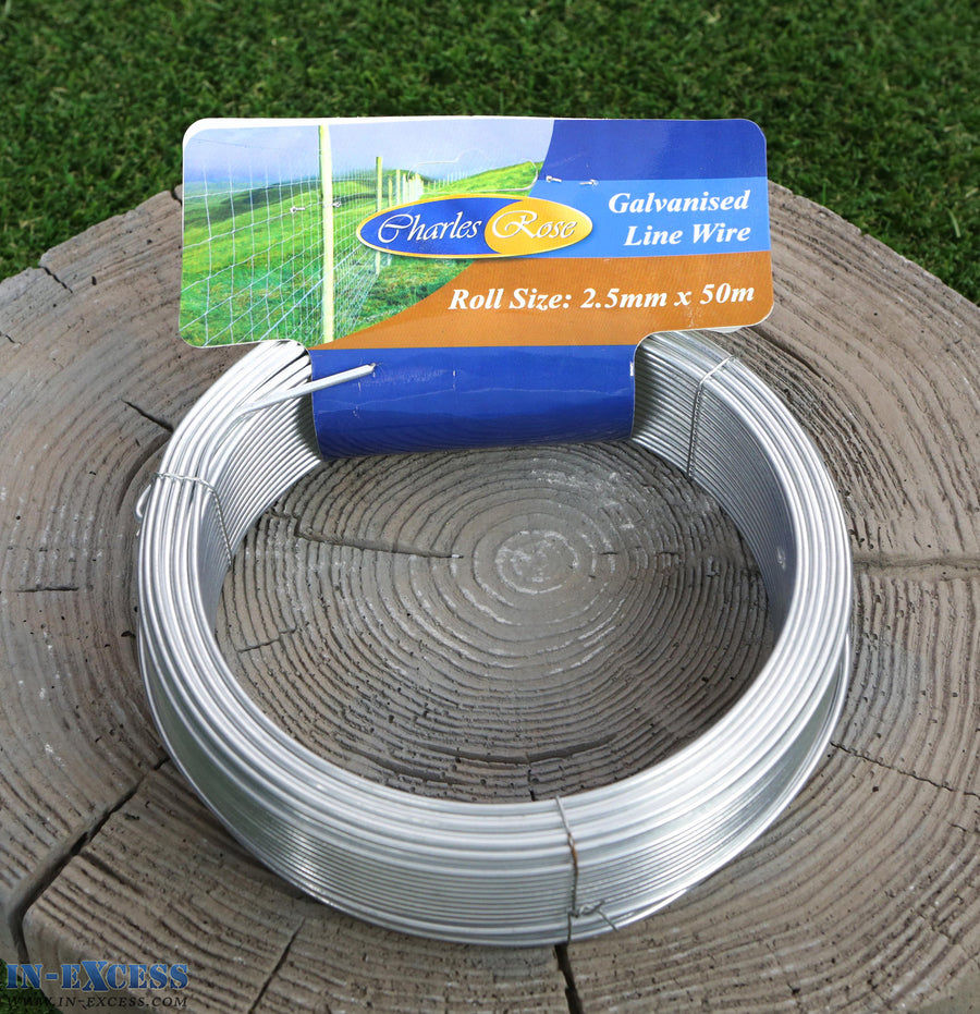 Charles Rose Galvanised Line Wire 2.5mm x 50 Metres