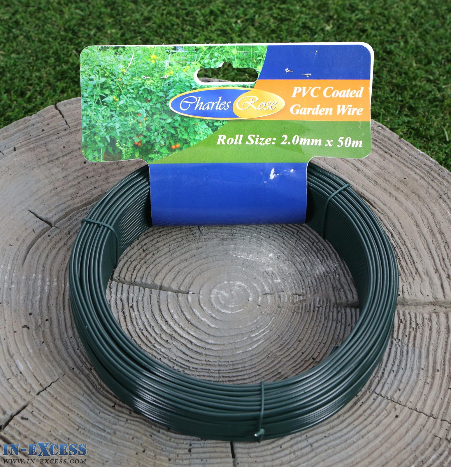 Charles Rose PVC Coated Garden Wire 2.0mm x 50 Metres - In-Excess Direct