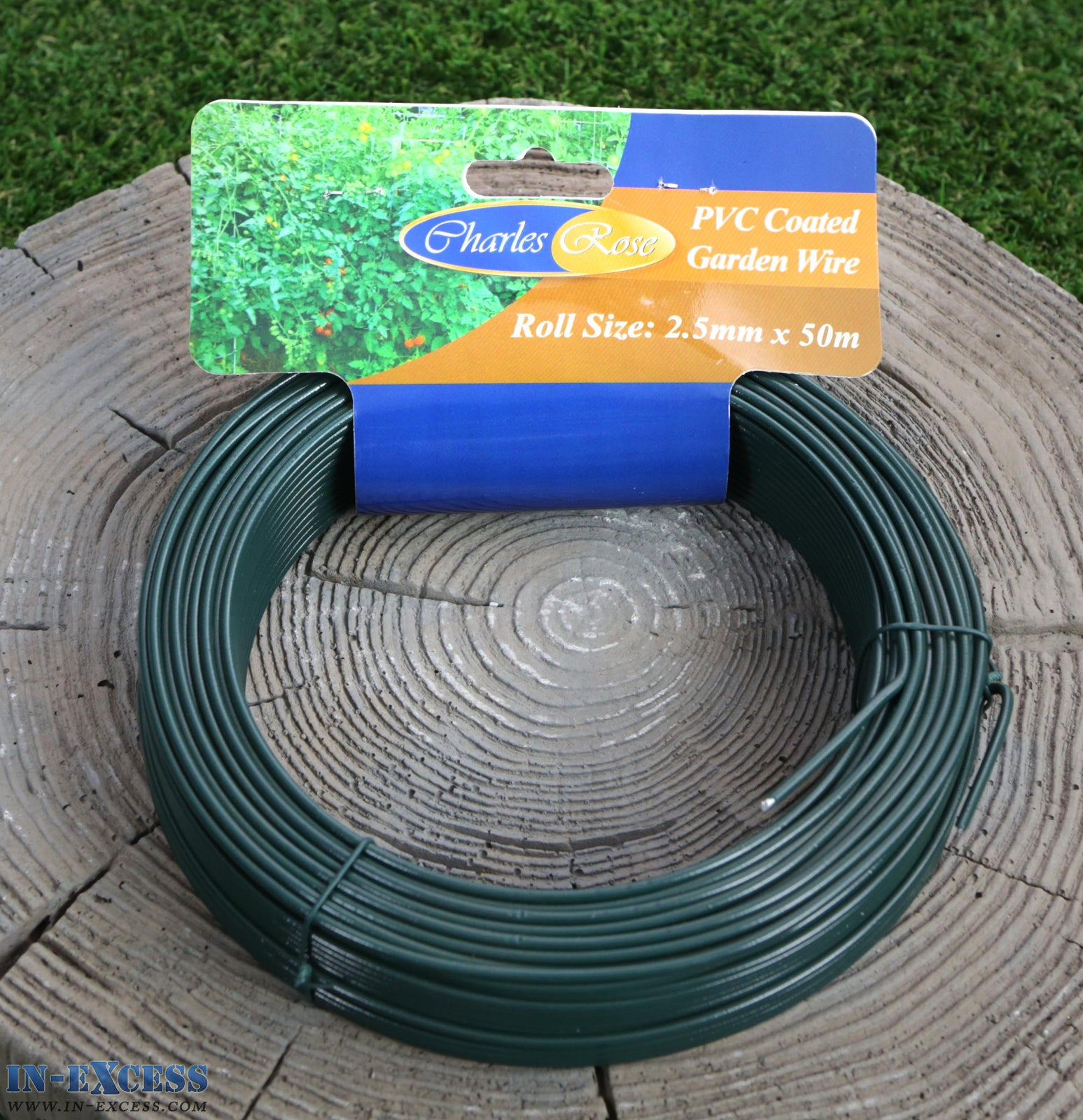 Charles Rose PVC Coated Garden Wire 2.5mm x 50 Metres - In-Excess Direct
