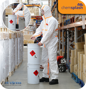 Chemsplash Pro +4 Anti-Static Chemical Coverall With Hood