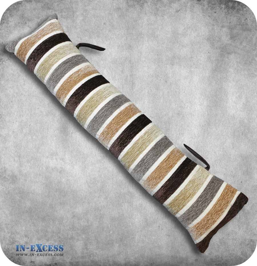 Chocolate Striped Draught Excluder