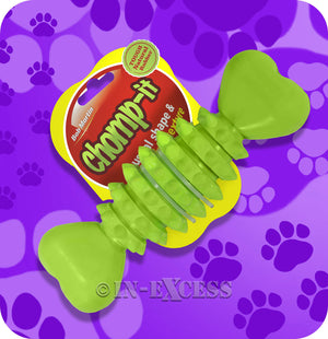 Bob Martin Chomp-it Unusual Shape Teeth Dog Treat Toy - Tough Natural Rubber