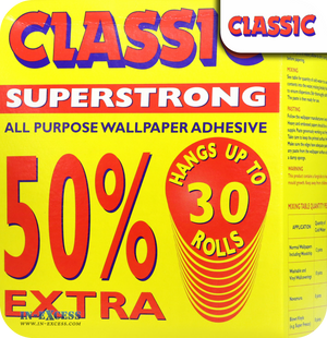 Classic Superstrong All Purpose Wallpaper Adhesive - Up To 30 Rolls