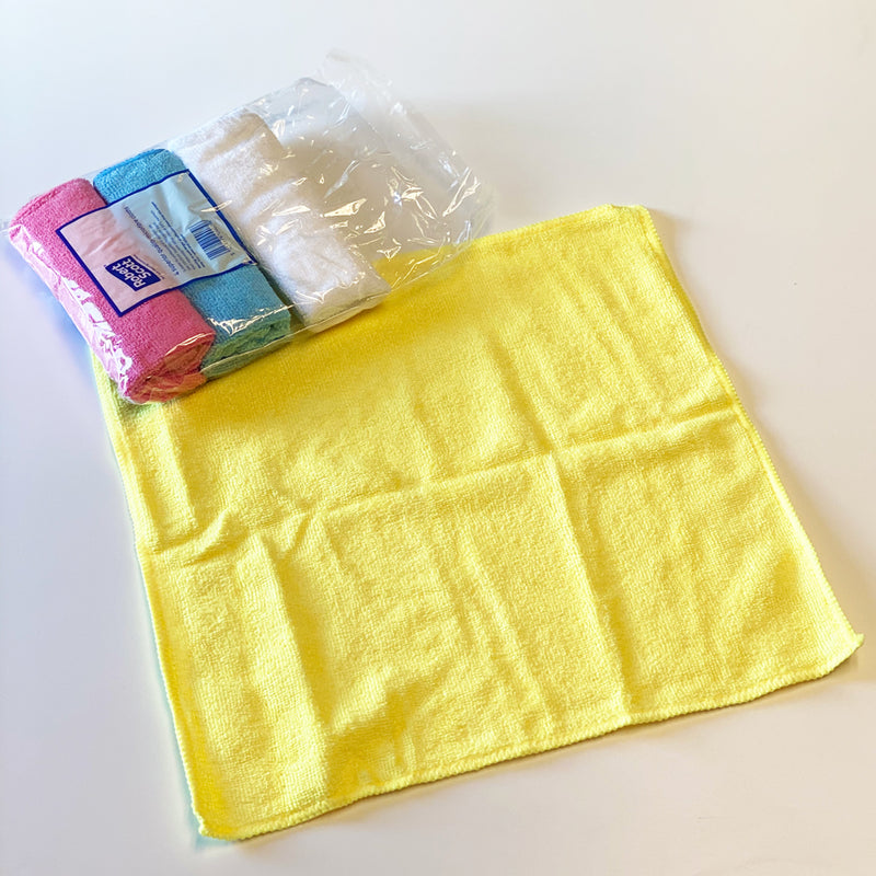 Robert Scott  Microfibre Household cleaning Cloths Pack of 4 - mixed colours