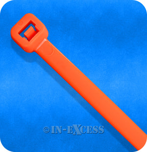 Coloured Grip Tie Electrical Cable Tie Back Cable Ties - Florescent Orange