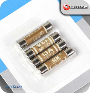 Connect-It 13 Amp Replacement Fuses - Pack of 4